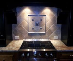 Backsplash picture frame metal tile
