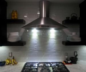 Marble tops and glass tile backsplash (3)