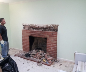 Fire place 2 before