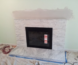 Fireplace 2 after white stacked stone
