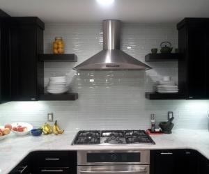 Marble tops and Glass tile backsplash 4