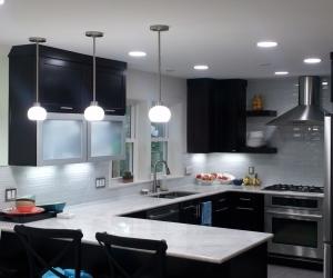 Marble tops and Glass tile backsplash 6
