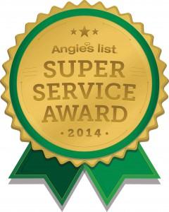 angise list super sefvice award 2014